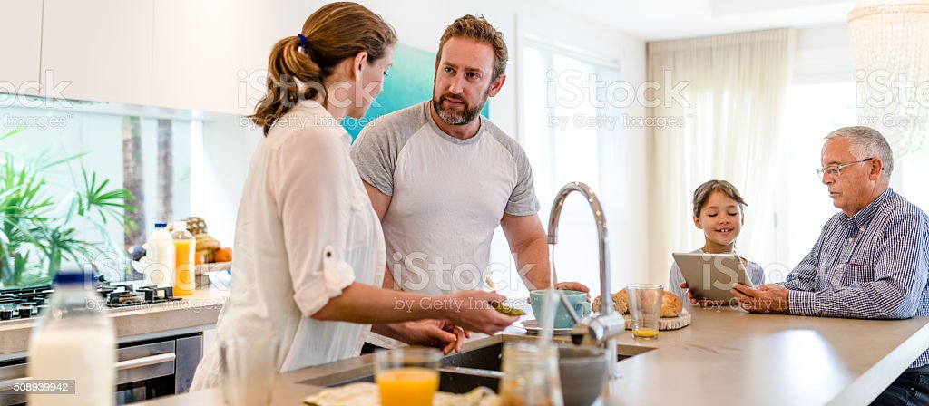 Getting prepare for lunch stock photo