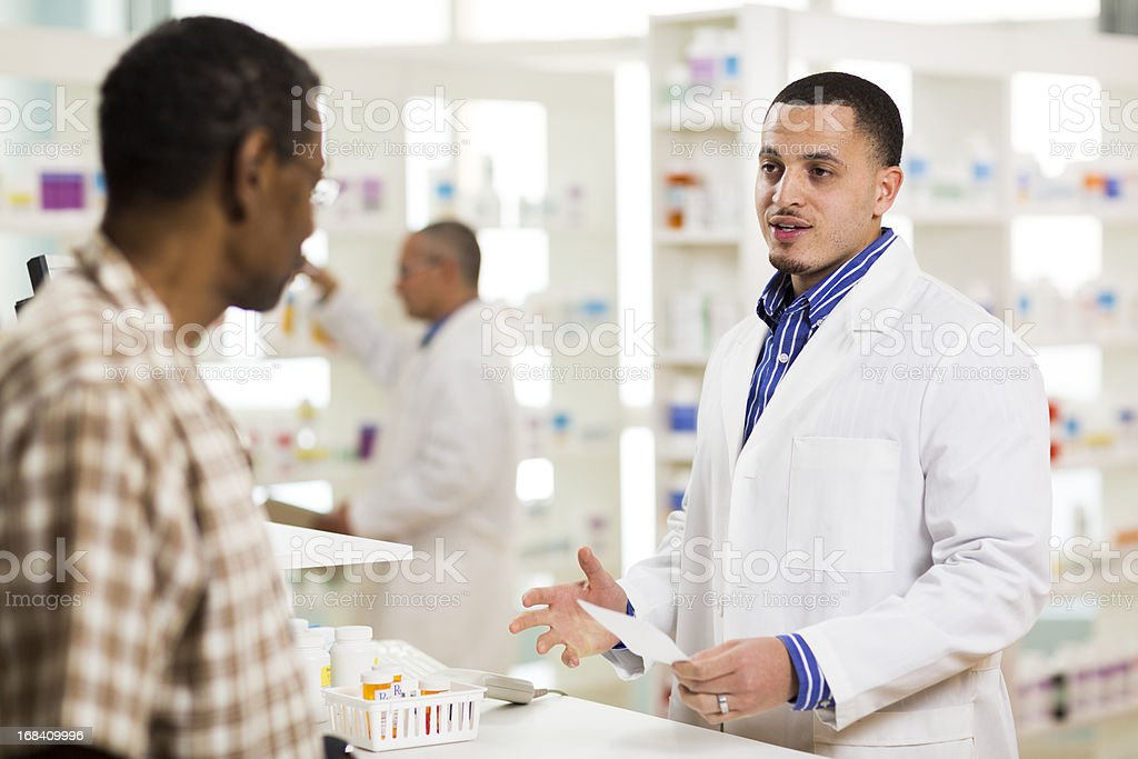 Getting Prescription Filled stock photo