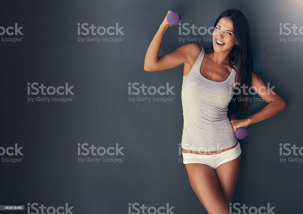 Getting pumped! stock photo