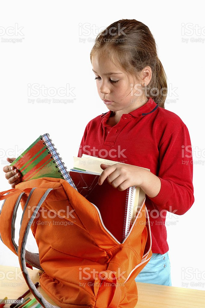 Getting reaady for school royalty-free stock photo