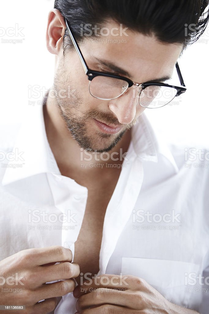 Getting ready for a big date royalty-free stock photo