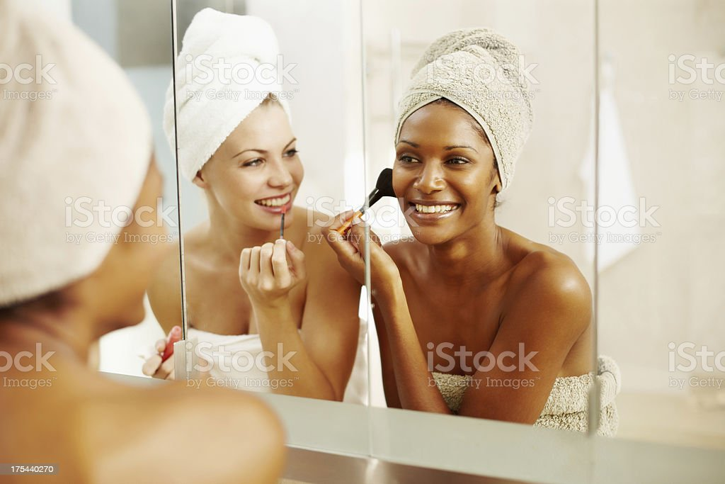 Getting ready for a night out royalty-free stock photo