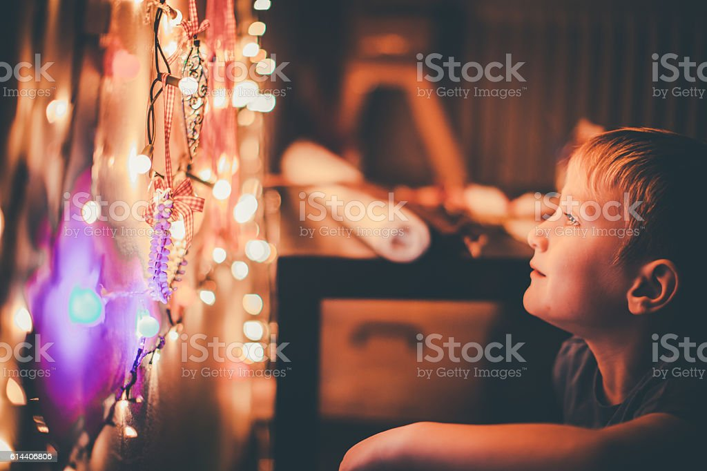 Getting ready for Christmas stock photo