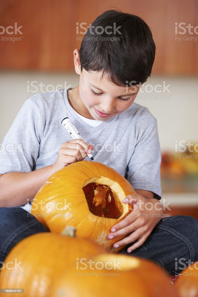 Getting ready for Halloween royalty-free stock photo