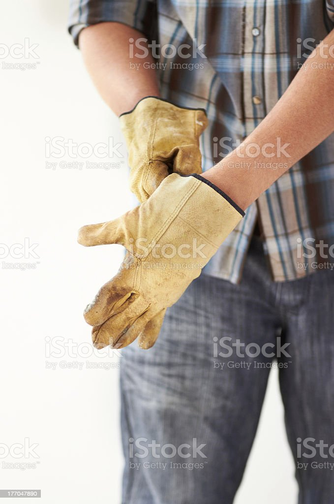 Getting ready for handywork royalty-free stock photo