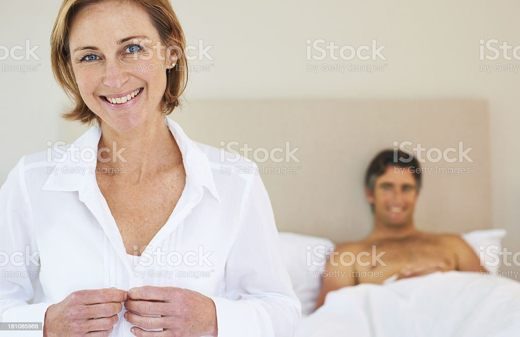 Getting ready for her day royalty-free stock photo