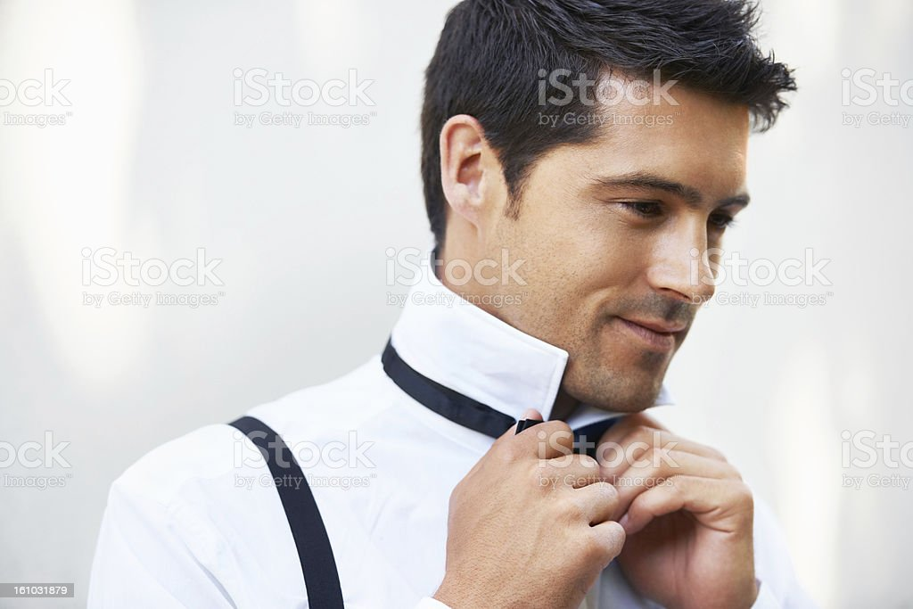 Getting ready for his big day royalty-free stock photo