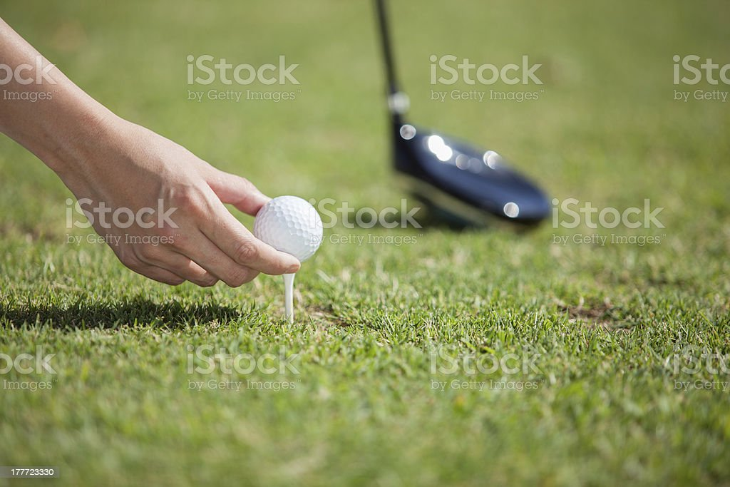 Getting ready for tee off royalty-free stock photo