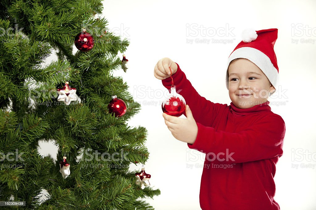 getting ready for the christmas royalty-free stock photo