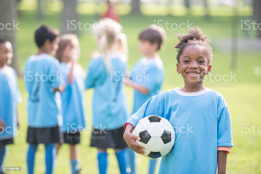 Getting Ready for the Game to Start stock photo