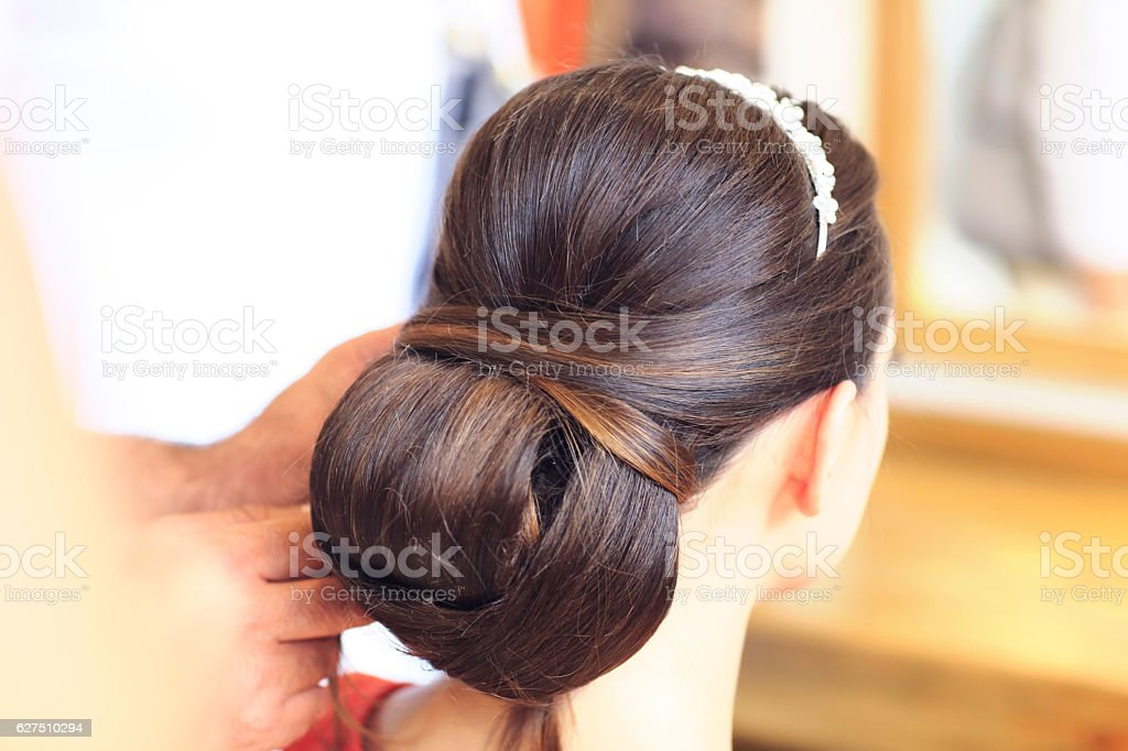 Getting ready for the happiest day of her life stock photo