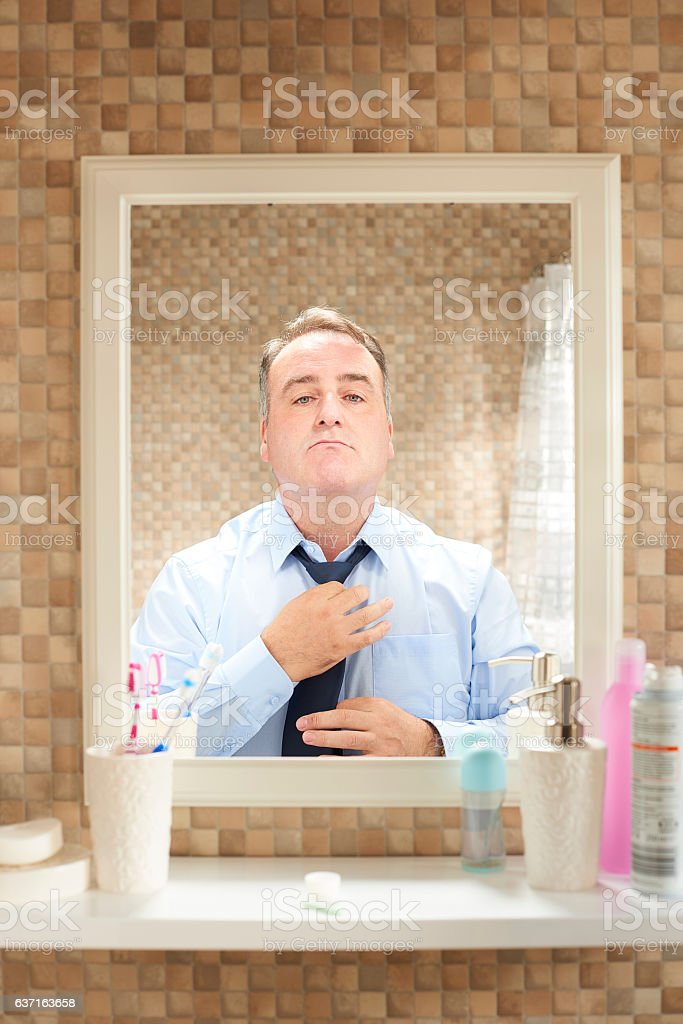 getting ready for the office stock photo