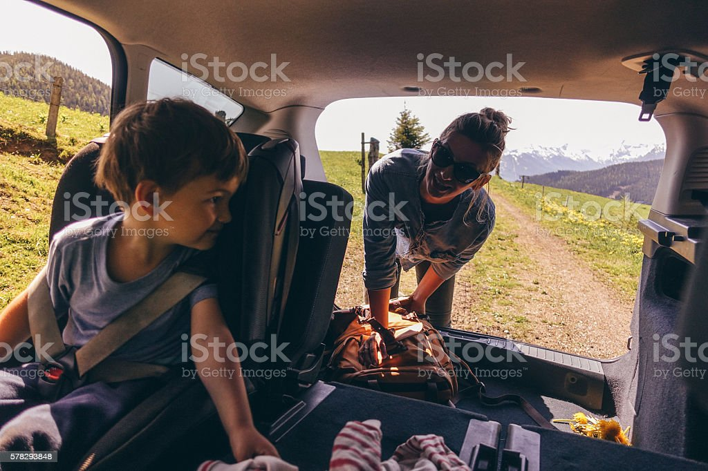 Getting ready for the road trip stock photo