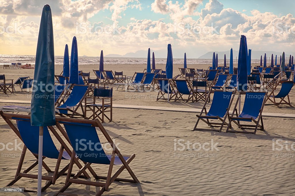 Getting ready for tourists. Italy stock photo