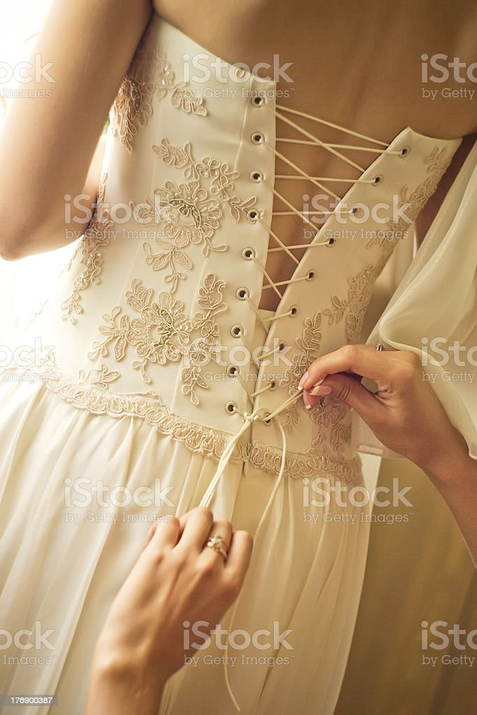 Getting ready for Wedding royalty-free stock photo