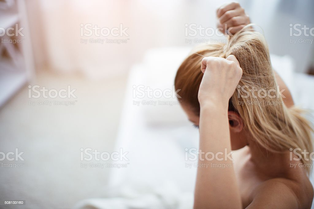 Getting ready for work stock photo