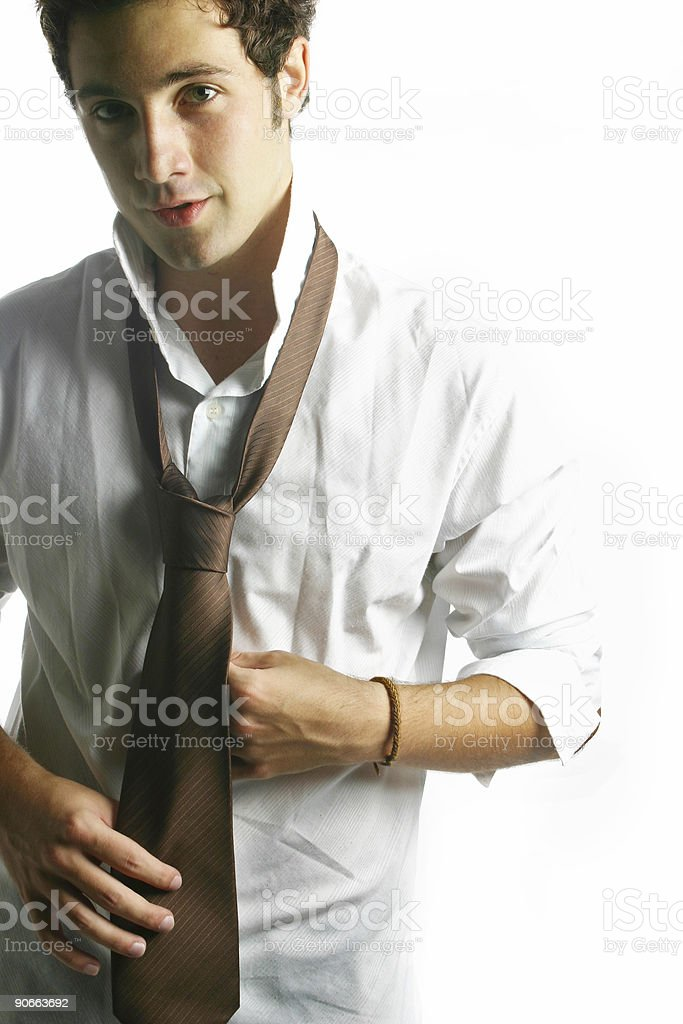 Getting ready for work royalty-free stock photo