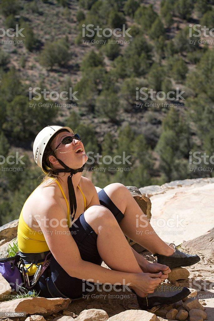 Getting Ready to Climb royalty-free stock photo