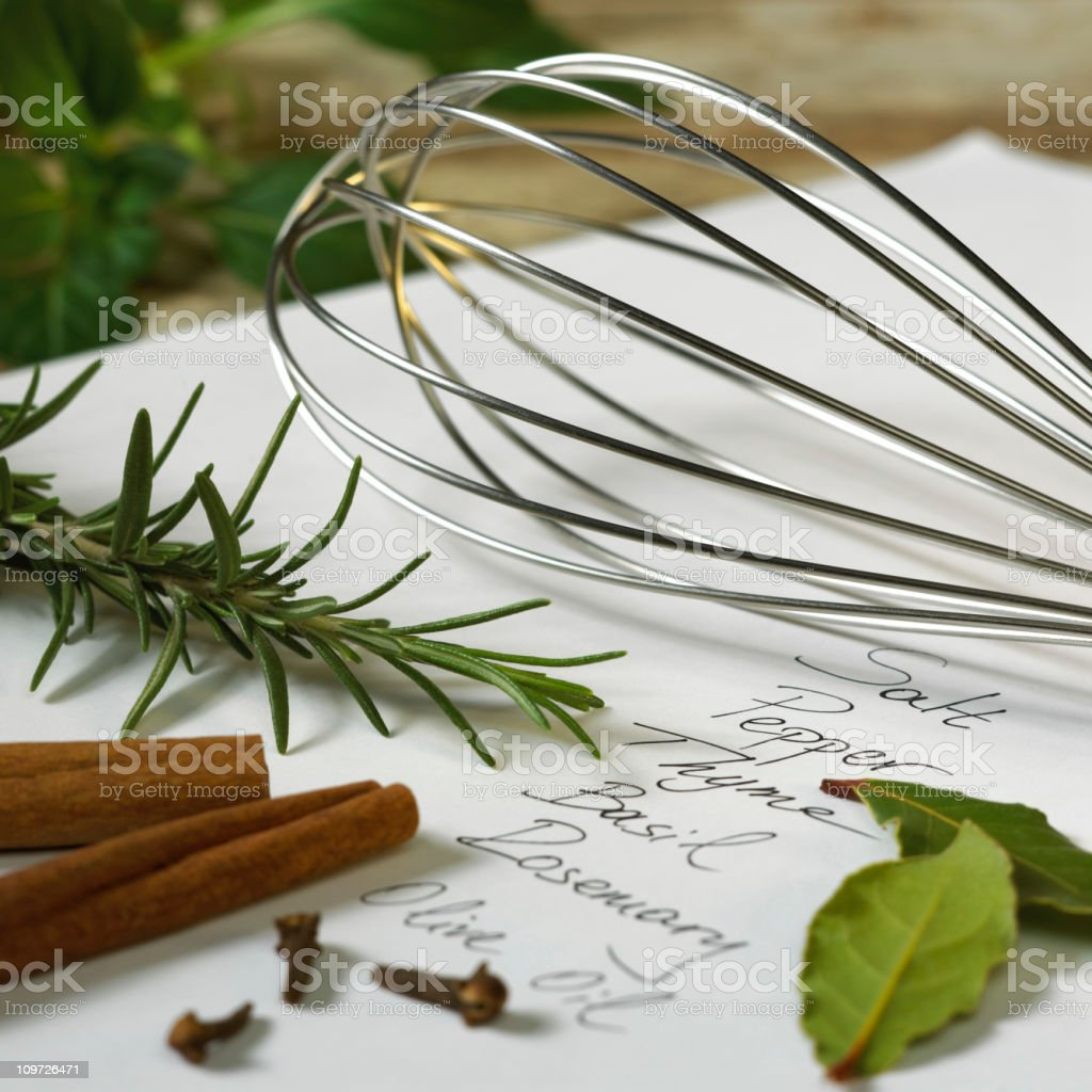 Getting ready to cook royalty-free stock photo
