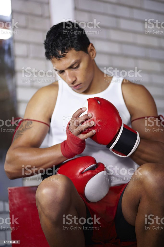 Getting ready to fight royalty-free stock photo