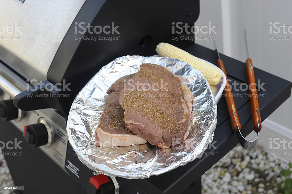 Getting Ready to Grill royalty-free stock photo