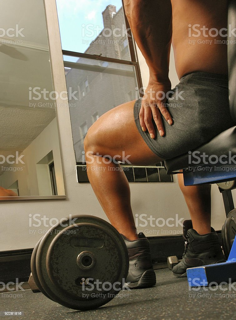 Getting ready to pump iron royalty-free stock photo