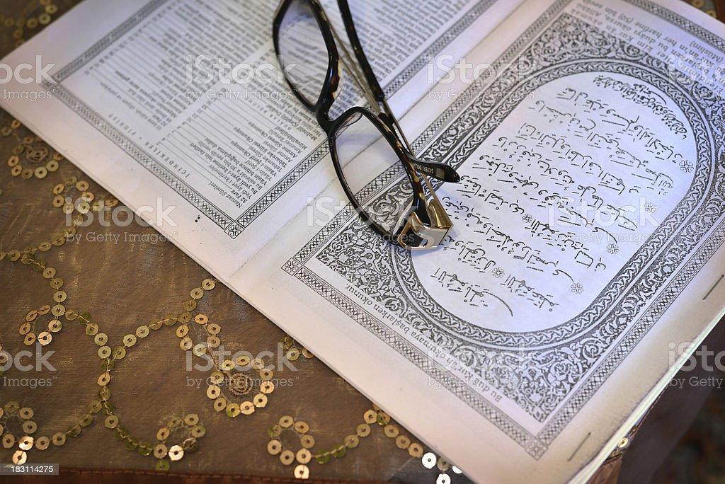 Getting ready to read the Kur'an-ı Kerim stock photo