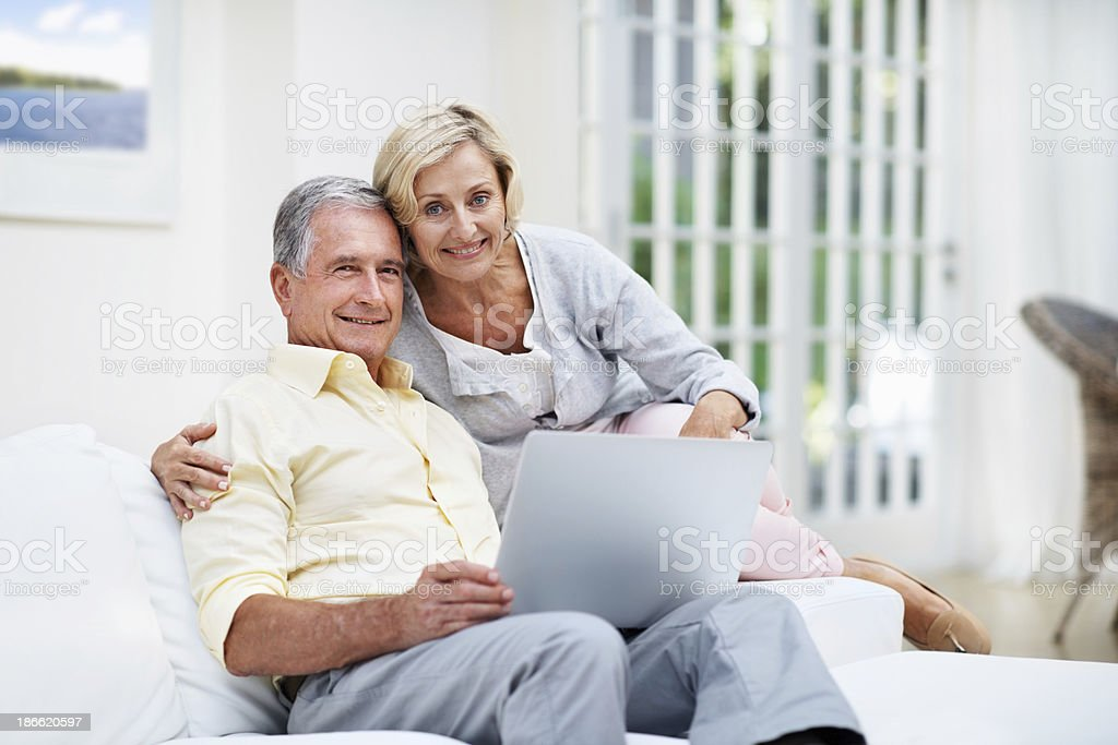 Getting ready to video chat with family royalty-free stock photo