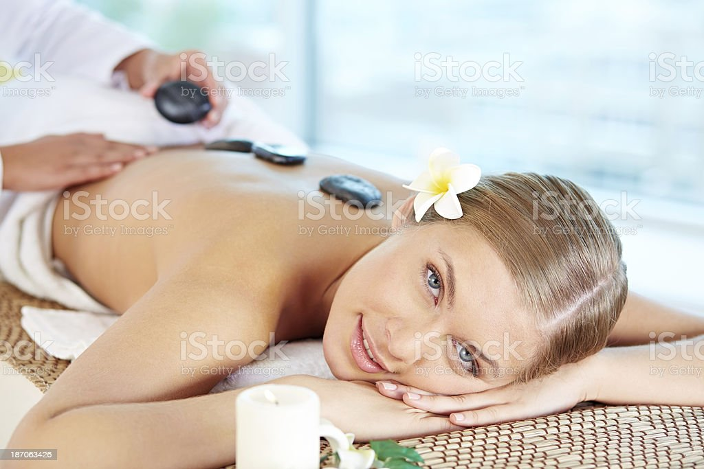 Getting relaxing pleasure royalty-free stock photo