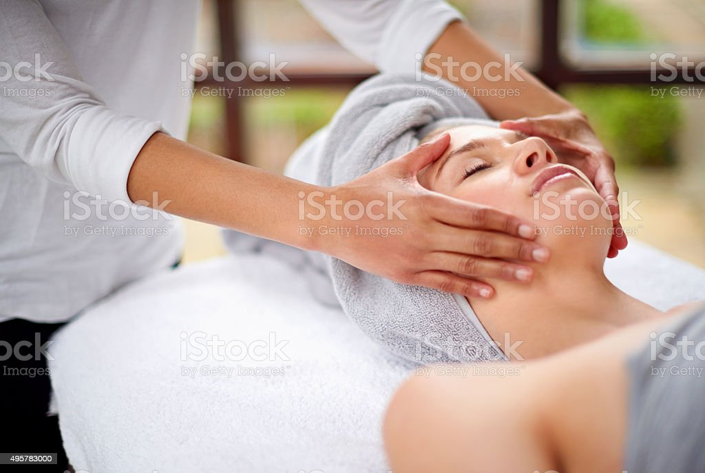 Getting rid of all the tension stock photo