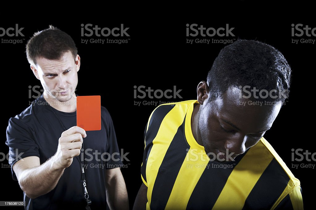 Getting sent off royalty-free stock photo