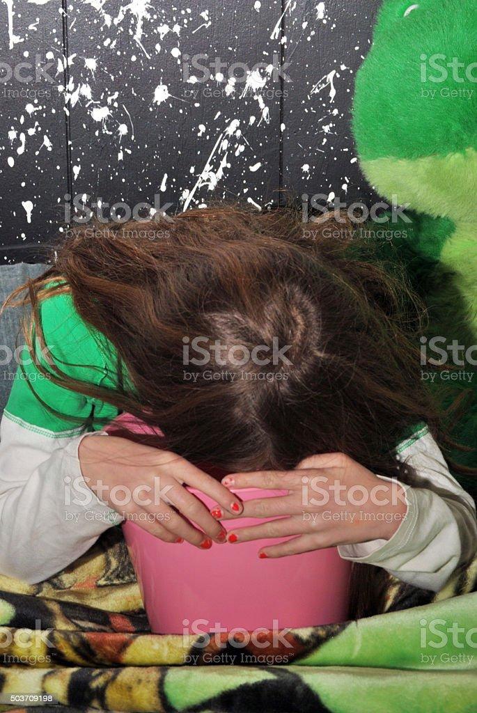 Getting Sick stock photo
