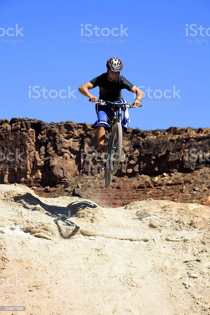 Getting Some Air stock photo
