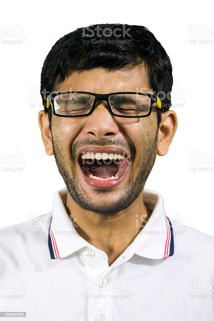 Getting some great news! stock photo