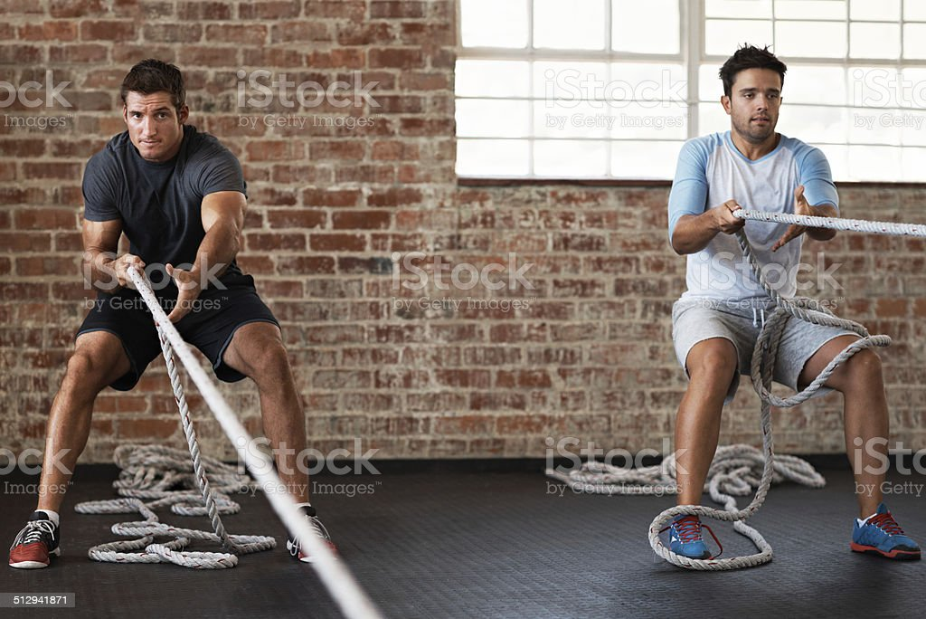 Getting some healthy competition stock photo