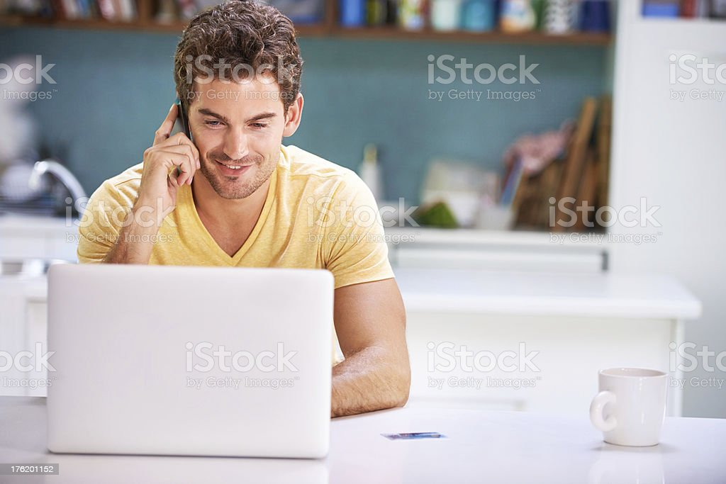 Getting some last minute business done royalty-free stock photo