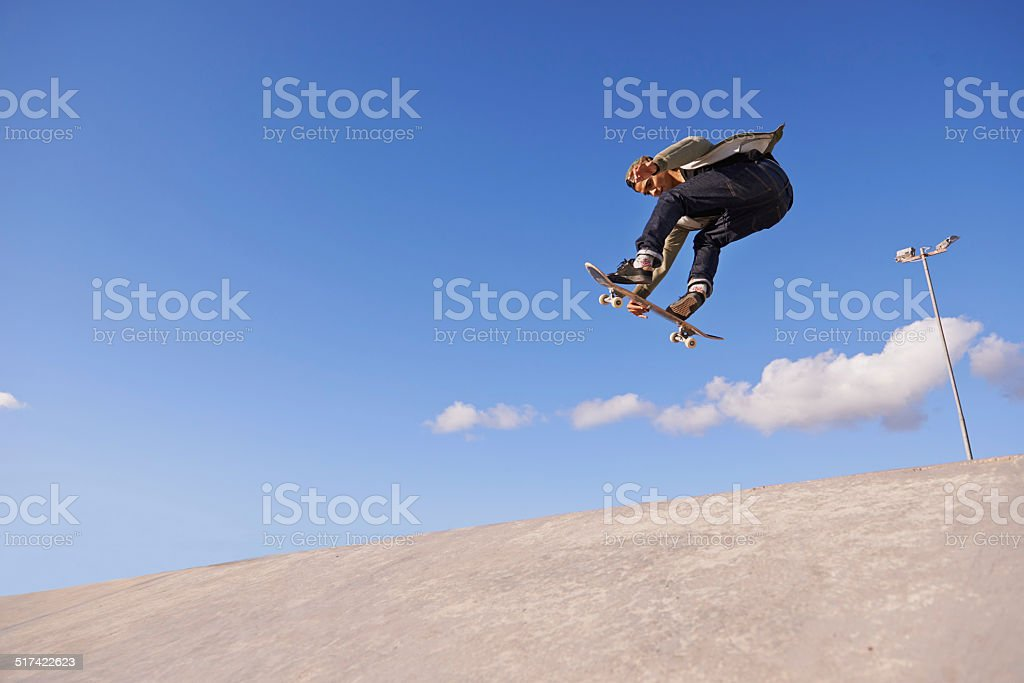 Getting some mad air stock photo