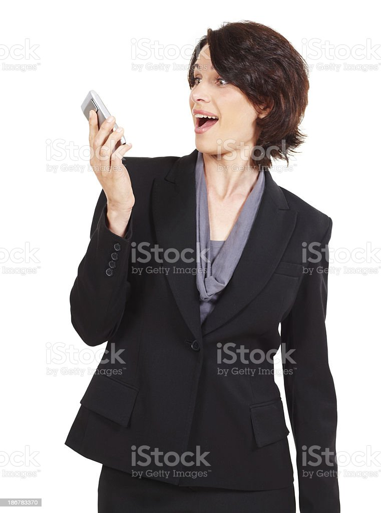 Getting some unexpected good news royalty-free stock photo