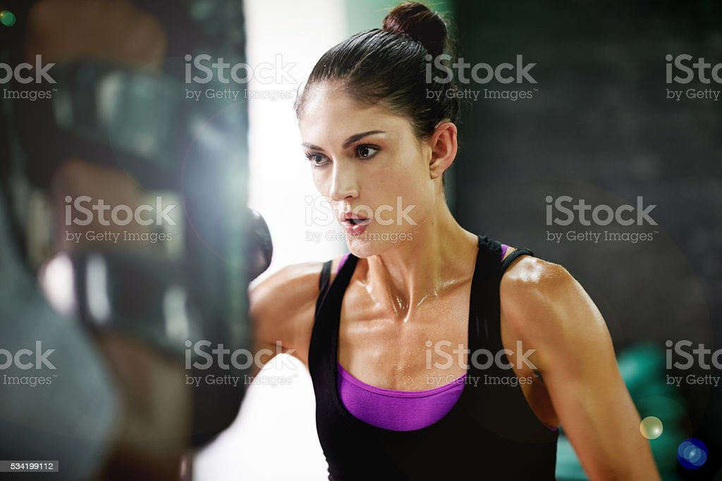 Getting stronger each day... stock photo