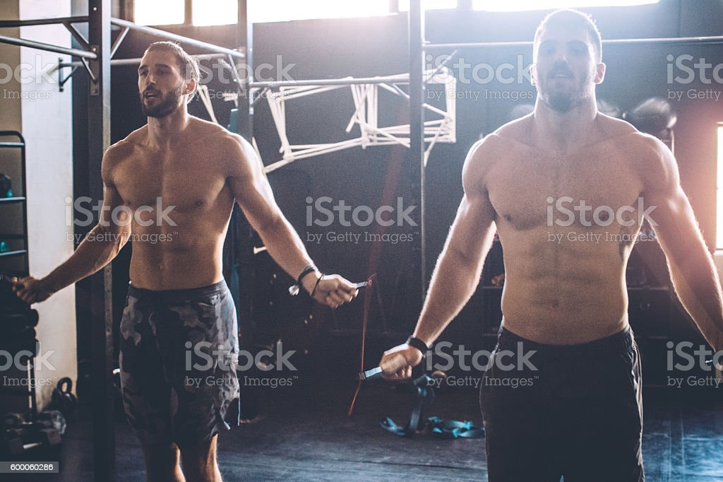 Getting stronger with each workout stock photo