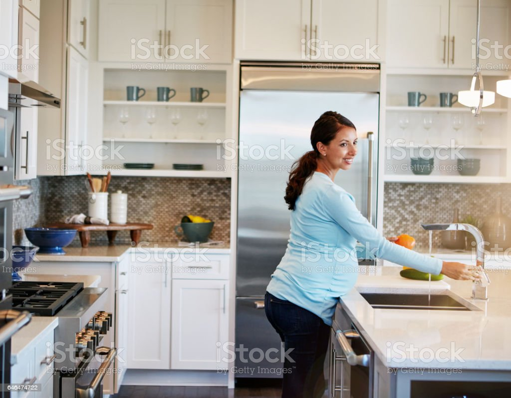Getting the baby to love fresh foods even before birth royalty-free stock photo