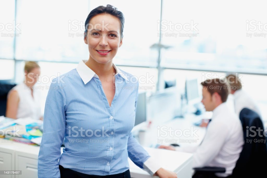Getting the best from her team royalty-free stock photo