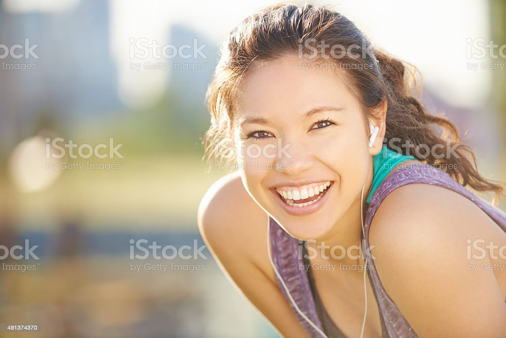 Getting the endorphins going stock photo