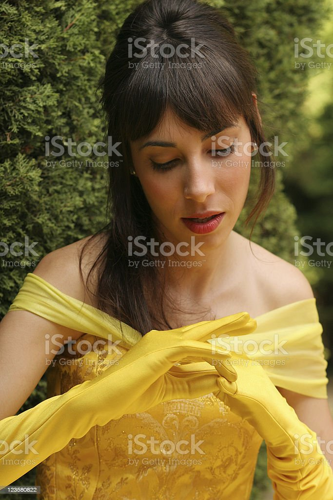 Getting the gloves off. royalty-free stock photo