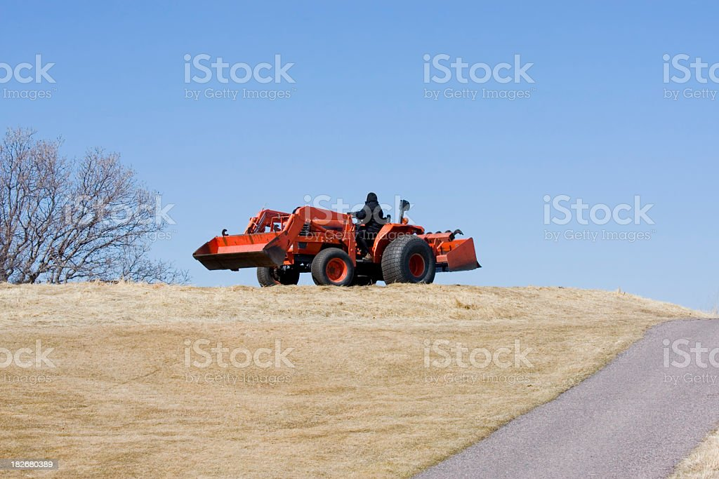 Getting the Golf Course Ready royalty-free stock photo