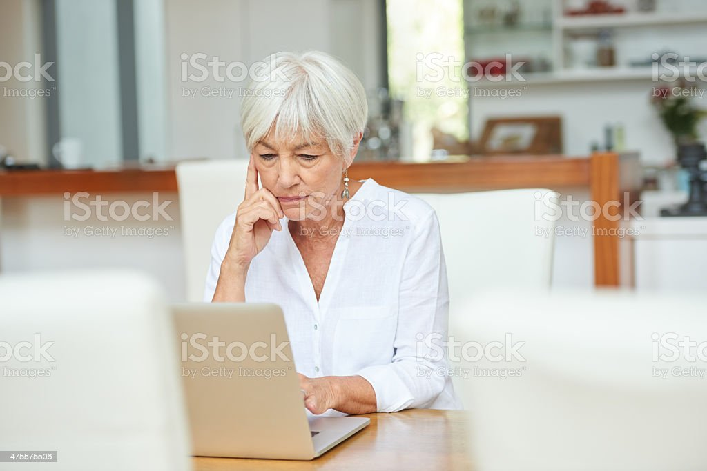 Getting the hang of technology stock photo