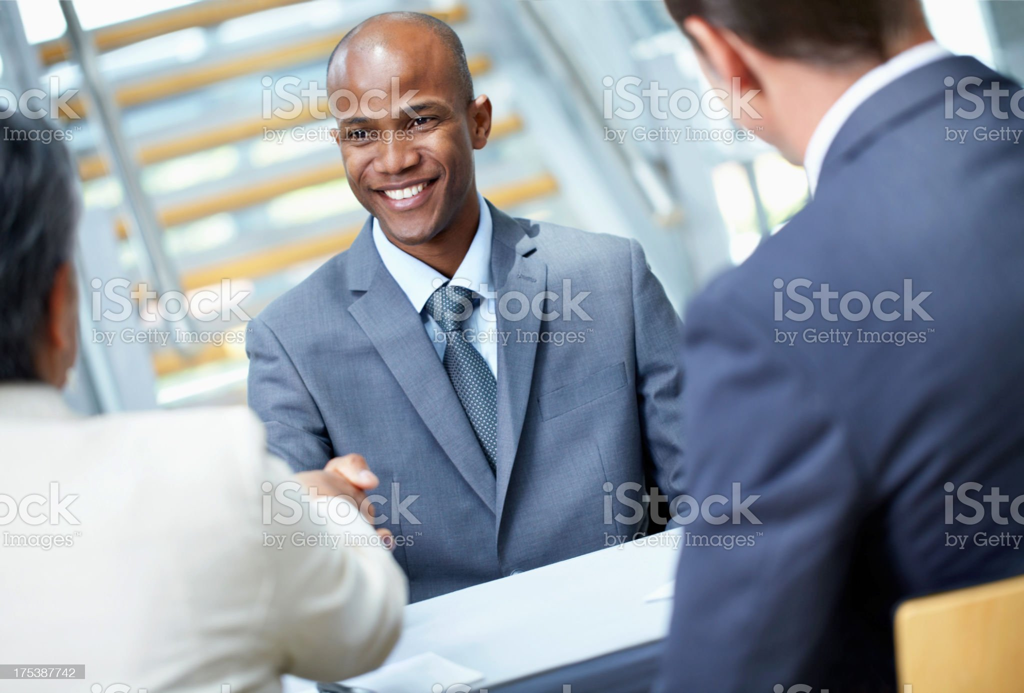 Getting the job you want royalty-free stock photo
