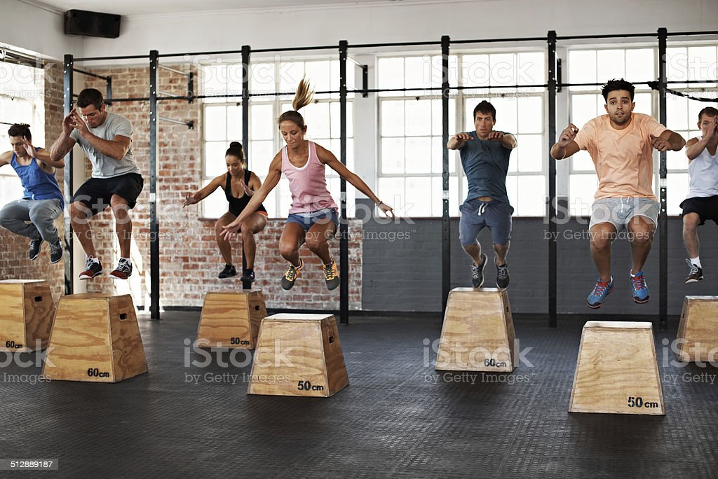 Getting the jump on good health stock photo