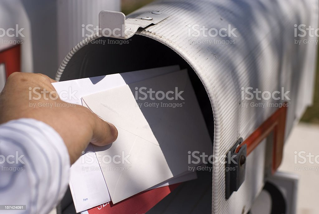 Getting the mail stock photo