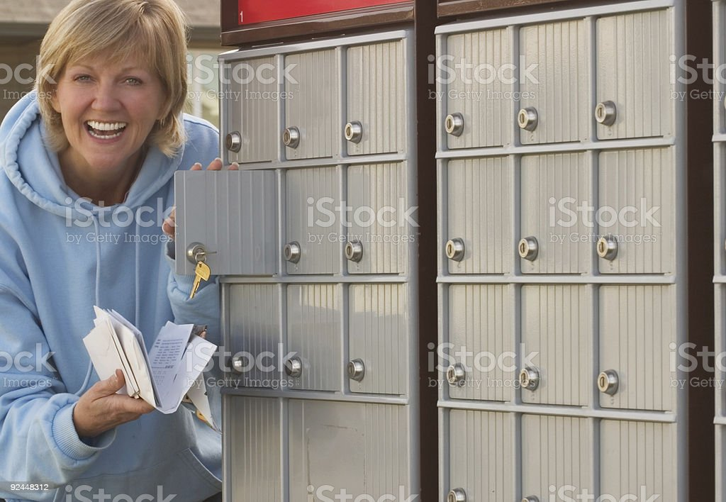 Getting the Mail royalty-free stock photo